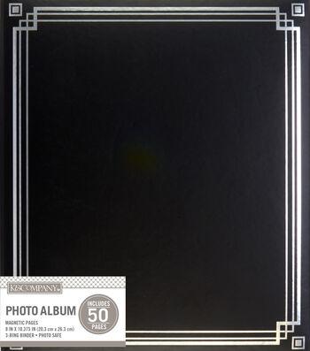 K&Company Black Library Binder Magnetic Photo Album