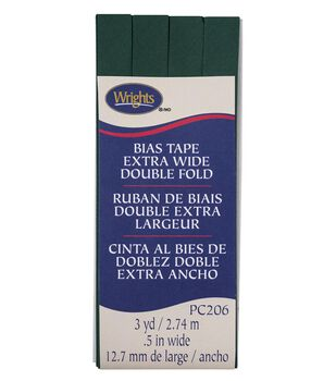 Wrights Extra Wide Double Fold Bias Tape 1/2''x3 yds-Hunter