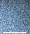 Apparel Knit Fabric 57\u0022-Mykonos Blue Dot Leaf