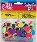 Darice Paste On Eyes 15mm 80/Pkg Black on Neon