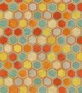 Iman Lightweight Decor Fabric-Gem Market Emb/Henna