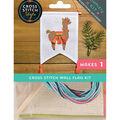 Cross Stitch Style Wall Flag Kit-Alpaca