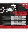 Sharpie Extreme Permanent Makrers 4/Pkg-Black