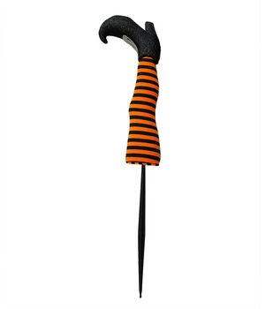 Maker's Halloween 24'' Witch Leg Yard Stake-Stripes