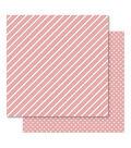 Bella! Foiled Cardstock-Hearts & Stripes