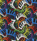 Novelty Cotton Fabric -Multi Color Music