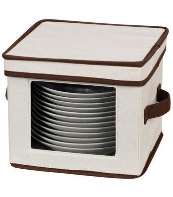 Household Essentials Window Vision Dessert Plate/Bowl Storage