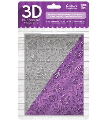 Crafter's Companion 5''x7'' 3D Embossing Folder-Entwined Roses