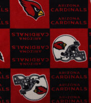 Arizona Cardinals Fleece Fabric -Block, , hi-res