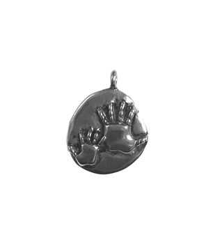 Blue Moon Beads Single Charm Mommy and Me Silver