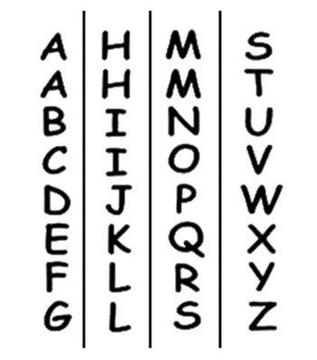 "Tulip Sticky Fabric Stencils 2""X10""-ABC"