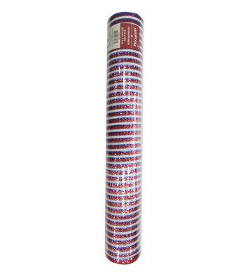 "Americana Decorative Mesh Ribbon 21""x30'-Red, White & Blue Stripes"