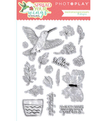 PhotoPlay Photopolymer Stamp-Spread Your Wings