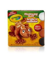 Crayola Modeling Clay 4oz 4/Pkg-White, Black, Orange & Light Brown, , hi-res