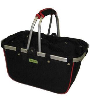 JanetBasket Large Aluminum Frame Basket-Black/Red
