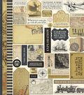 Transatlantic Travel Cardstock Stickers 12\u0022X12\u0022