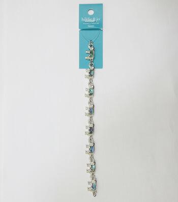 hildie & jo 7'' Elephant Shell & Metal Strung Beads