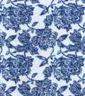 Snuggle Flannel Fabric -Sapphire Blue Floral