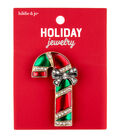 hildie & jo Christmas Holiday Jewelry Enamel Candy Cane Pin