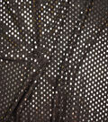 Metallics Confetti Dot Fabric 58\u0022-Black & Silver