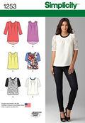 Simplicity Pattern 1253P5 12-14-16-1-Top / Vest