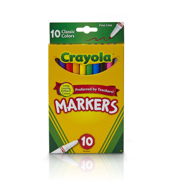 Crayola Fine Line Markers-Classic Colors 10/Pkg