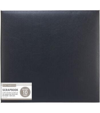 K&Company Black Faux Leather 12x12 Basic Scrapbook