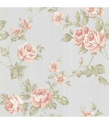 Bloom Pink Rose Trail Wallpaper