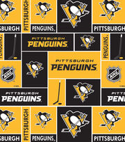 Pittsburgh Penguins Fleece Fabric -Block, , hi-res