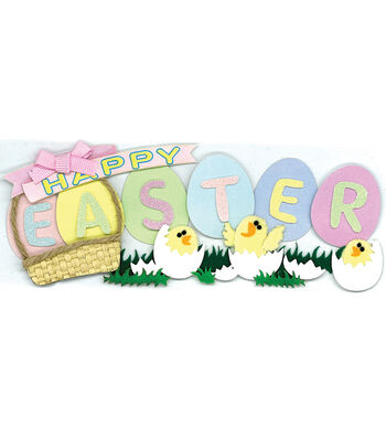 Jolee's Boutique Dimensional Title Wave Stickers-Easter