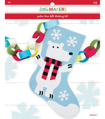 Little Makers Felt Stocking Kit-Polar Bear
