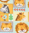 Nursery Fleece Fabric 59\u0027\u0027-Zoo Animal Patchwork