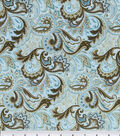 Keepsake Calico Cotton Fabric 44\u0022-Paisley Aqua&Brown