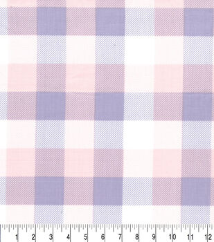 Easter Cotton Fabric-Pink & Purple Plaid
