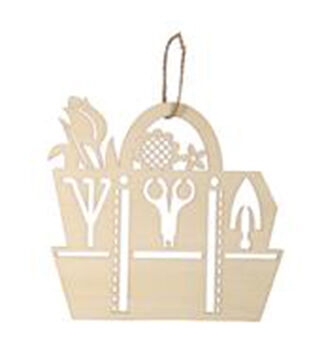 Simply Spring Craft Wooden Garden Tool Bag