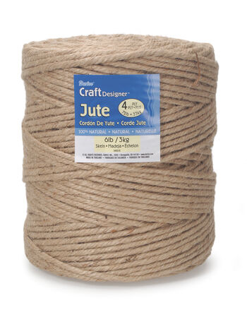 Four-Ply 100% Natural Jute, 6lbs. 72lb. Strength