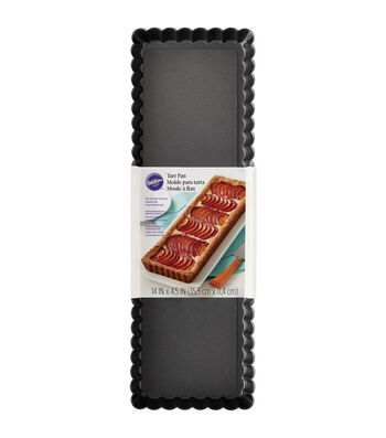 "Wilton Oblong Tart Pan-Rectangle 14""X4.5"""