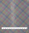 Satin Apparel Fabric 56\u0022-Foil Plaid Multicolor