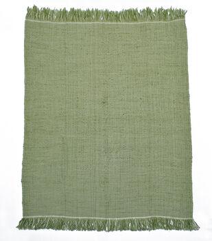 Simply Autumn 50''x60'' Textured Throw-Sage Green & White