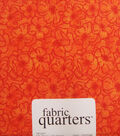 Fabric-Quarters Assorted Fabric-Orange