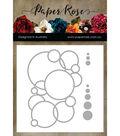Paper Rose 3 pk Metal Dies-Bubbles Circle