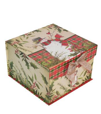 Maker's Holiday Large Mini Fliptop Storage Box-Christmas Stocking