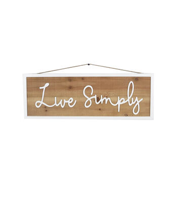 Simply Spring Wood Sign Wall Decor-Live Simply