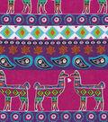 Snuggle Flannel Fabric -Aztec Llama