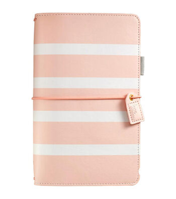 Webster's Pages Color Crush Travelers Notebook-Blush Stripe