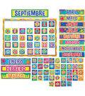 Color My World Spanish Calendar Bulletin Board Set