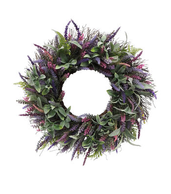 Fresh Picked Spring 23'' Lavender & Eucalyptus Wreath
