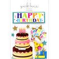 Park Lane 9 pk Stickers-Happy Birthday Banner