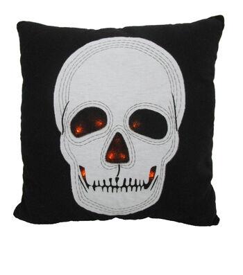 Maker's Halloween LED Pillow-Skull