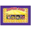 North Star Teacher Resource Superheroes SUPER JOB Punch Cards, 36/Pack